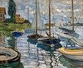 Claude Monet, Sailboats on the Seine at Petit-Gennevilliers, 1874, Oil on canvas 11-27-19 ^legionofhonor ^artmuseum - Flickr - Sharon Mollerus.jpg