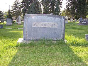 Rudger Clawson - Clawson family grave marker