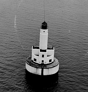 Cleveland East Ledge Light - Image: Cleveland Ledge Lighthouse MA