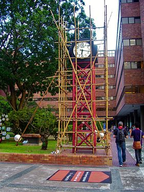 Clock on The Hong Kong Polytechnic University campus' territory.jpg