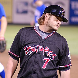 JD Closser - Closser with the Albuquerque Isotopes in 2010