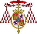 Coat of Arms of Luis María de Borbón y Vallabriga, Cardinal, Archbishop of Toledo and Seville.png