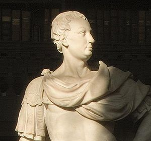 Christopher Codrington - Statue of Christopher Codrington in All Souls Library, Oxford