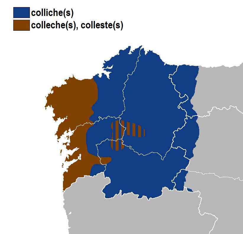 Colliches-colleches-collestes idioma gallego