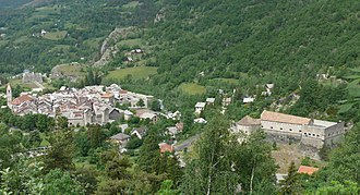 Colmars - An overall view of the village of Colmars