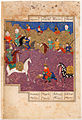 Combat in the Shah Namah manuscript copy of Firdausi - Google Art Project.jpg