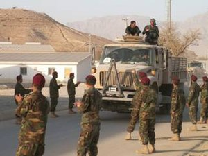 Operation Commando Fury - Afghan soldiers returning to base after the operation.
