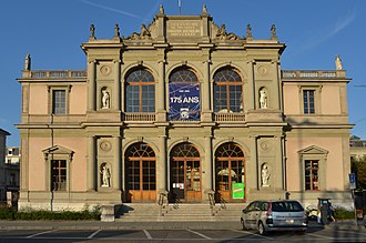 Conservatoire de Musique de Genève - East façade of the Conservatoire de Musique