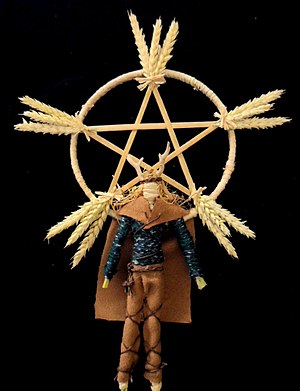 Lughnasadh - A modern Lughnasadh corn dolly representing the god Lugh
