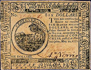 Continental Currency $6 banknote obverse (May 20, 1777).jpg