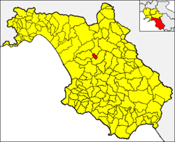 Controne within the Province of Salerno