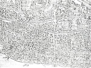 Copperplate map of London - The eastern City plate