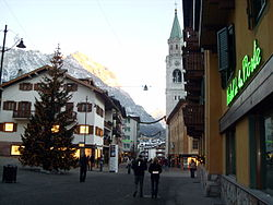 Cortina d'Ampezzo in January 2007