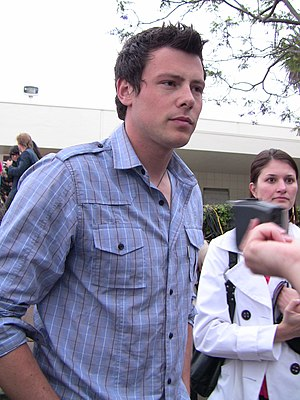 English: Actor Cory Monteith at premiere party...