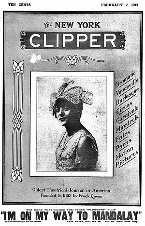 New York Clipper - Image: Cover of New York Clipper (February 7, 1914)