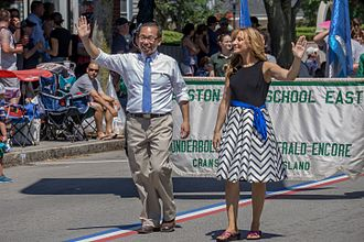Allan Fung - Fung marched in the 2016 Bristol Fourth of July Parade with his wife Barbara Ann Fenton.