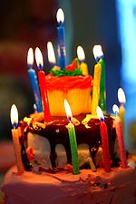 Creative Commons Birthday Cake and Candles (4825652728)