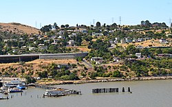 Looking south towards Crockett from Carquinez Strait. July 14, 2010. Courtesy Federico Pizano
