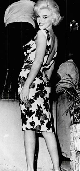 Monroe on the set of Something's Got to Give. She was absent for most of the production due to illness and was fired by Fox in June 1962, two months before her death Cropped version of Monroe on the set of Something's Got to Give.jpg