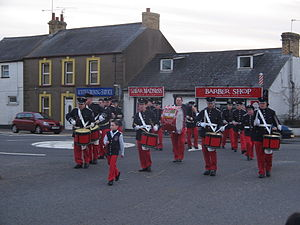 Crossgar - Crossgar Young Defenders, open their annual parade by matching through their hometown.