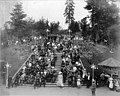 Crowd seated on staircase in Centennial Park, Lewis and Clark Exposition, Portland, Oregon, 1905 (AL+CA 2011).jpg