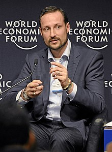 Haakon di World Economic Forum, Januari 2010