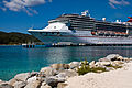 Cruise Ship Carnival Legend docked in Roatán, Honduras - December 2010.jpg