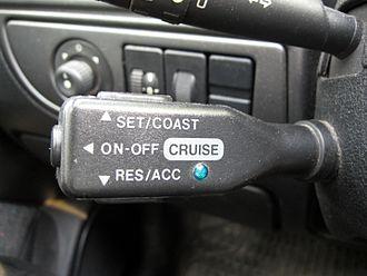 Cruise control - Cruise control on Citroën Xsara.
