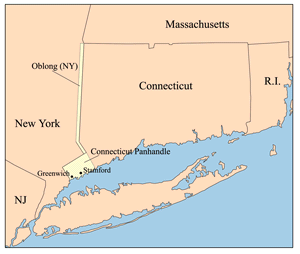 "Connecticut panhandle - Connecticut Panhandle and ""The Oblong"""
