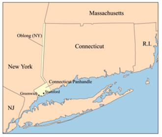 "Connecticut panhandle - Connecticut Panhandle and ""The Oblong"""