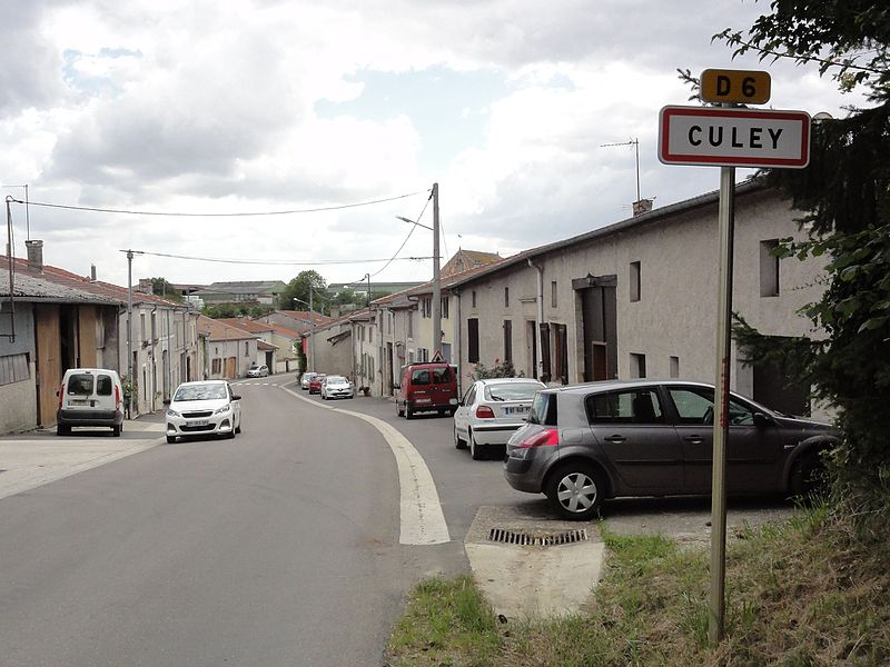 Culey (Meuse) city limit sign