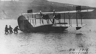Curtiss Model H - Model H-8 prototype on Lake Keuka, 1916.