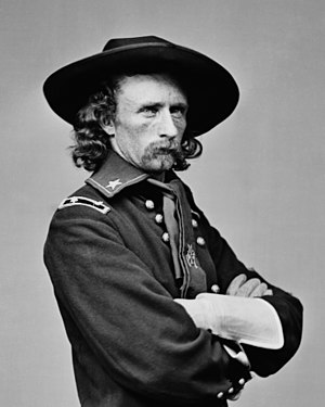 Battle of Appomattox Station -  Brigadier General (Brevet Major General) George Armstrong Custer
