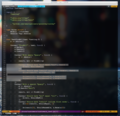 Customized vim with opened file..tiff