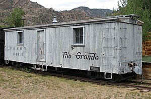 National Register of Historic Places listings in Montrose County, Colorado - Image: D&RGW box outfit car 04414