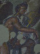 Détail de la mosaïque de sol dite le Jugement de Pâris 04