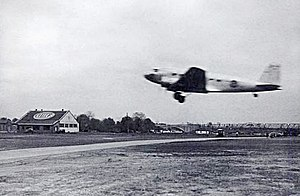 DC-2 takeoff at Washington-Hoover Airport - 1935 - Army Signal Corps photo.jpg