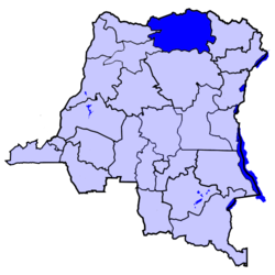 Location of Bas-Uele district in the Democratic Republic of the Congo