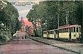 DESAIX - BONSECOURS - Route de Condé et l'Eglise - Arrivée du Tramway électrique de Valenciennes.JPG
