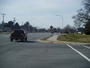 Delaware Route 8 - Westbound DE 8 (Forrest Avenue) in the western part of Dover