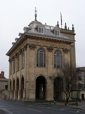 Abingdon County Hall Museum - View of the County Hall building that houses the museum.