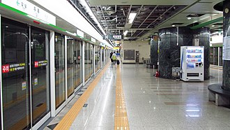 Duryu station - Station platform
