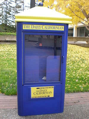 The Daily Californian - A Daily Cal rack on the UC Berkeley campus