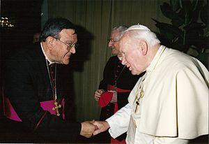 antonio vitale bommarco con papa giovanni paolo II