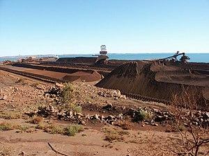 Dampier, Western Australia Iron Ore.