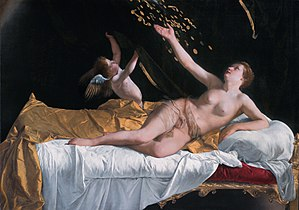 Orazio Gentileschi - Danaë by Orazio Gentileschi