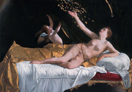 Danaë, by Orazio Gentileschi