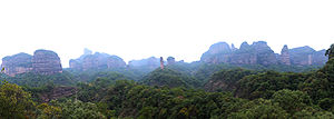 Mount Danxia - View of some rocky outcrops of the range