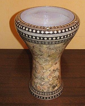 Goblet drum - Image: Darbouka égyptienne recadrée