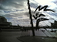 Darling Harbour, Sydney - Olympic symbol.jpg